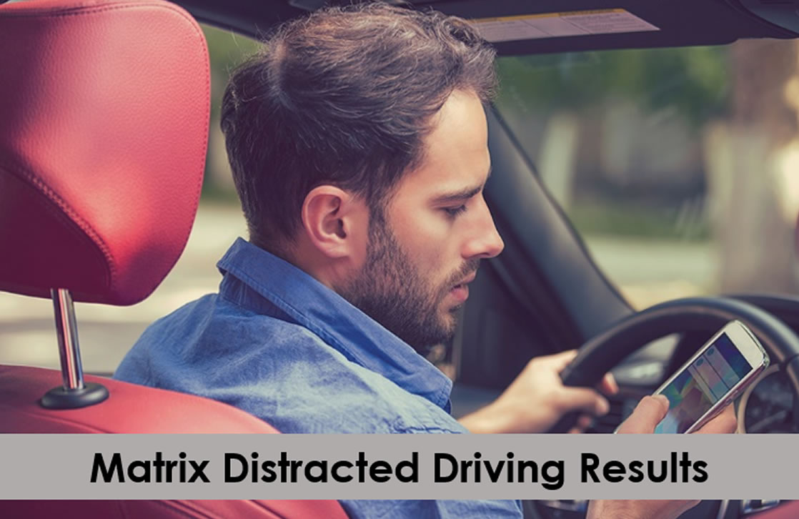 Matrix raises red flag on distracted driving this holiday season